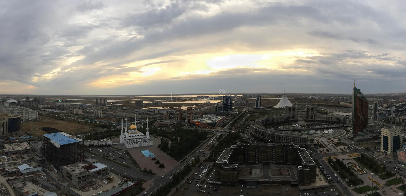 kazakhstan Kapitał Astana obraz stock