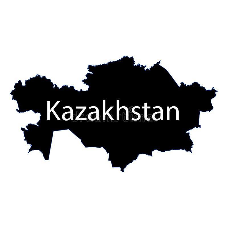 Kazakhstan map sign on a white background. eps ten. Kazakhstan map sign on a white background royalty free illustration