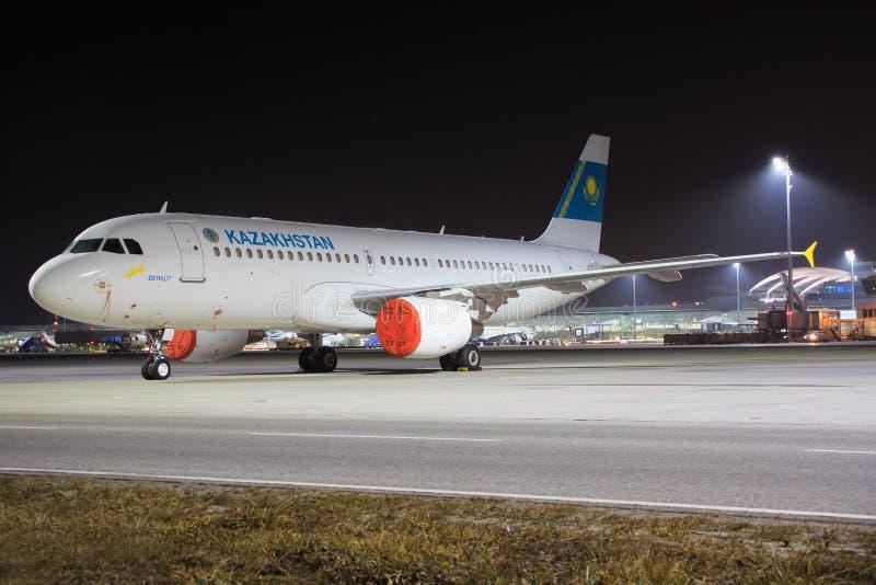 Kazakhstan. Munic/germany: Kazakhstan at Munic Airport in Munic 18.02.2017 stock photos