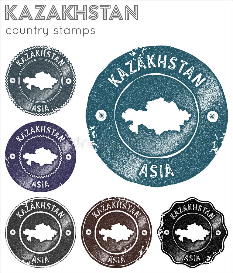 Kazakhstan stamps collection. stock images