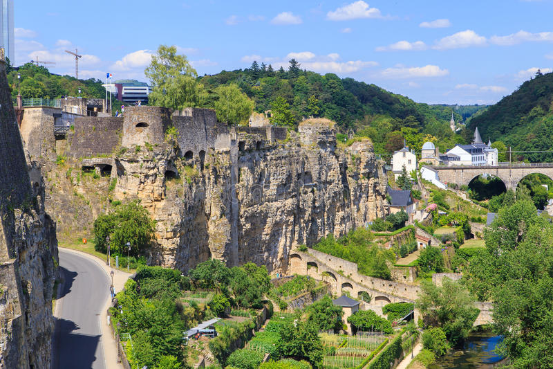 Kazamaty Luksemburg obrazy stock