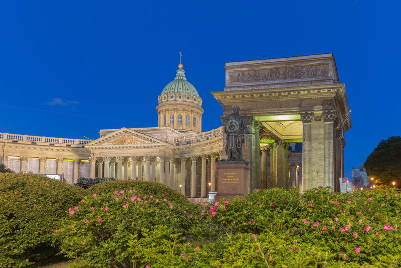 Kazan καθεδρικός ναός στο ST Πετρούπολη, Ρωσία στοκ εικόνα με δικαίωμα ελεύθερης χρήσης
