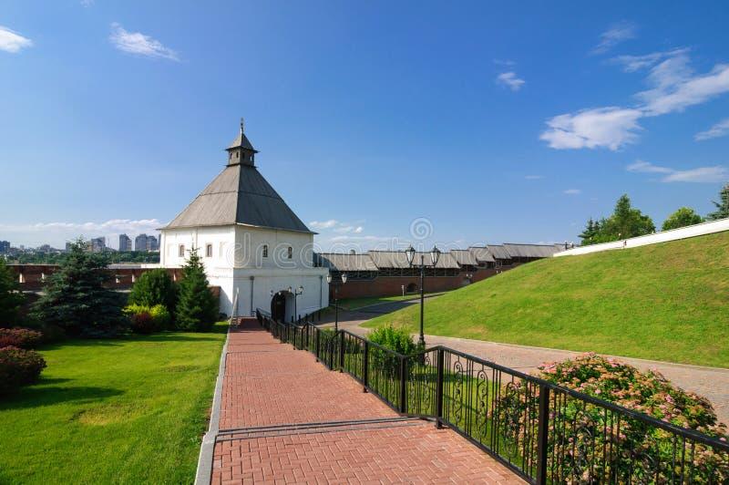 Kazan Κρεμλίνο το παλαιότερο μέρος της πόλης Kazan, Δημοκρατία της Ταταρίας στοκ εικόνα με δικαίωμα ελεύθερης χρήσης