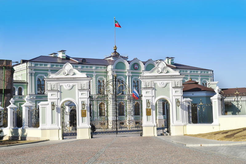 kazan Президентский дворец республики Татарстана стоковое фото rf