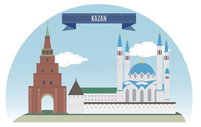 Kazan royaltyfri illustrationer