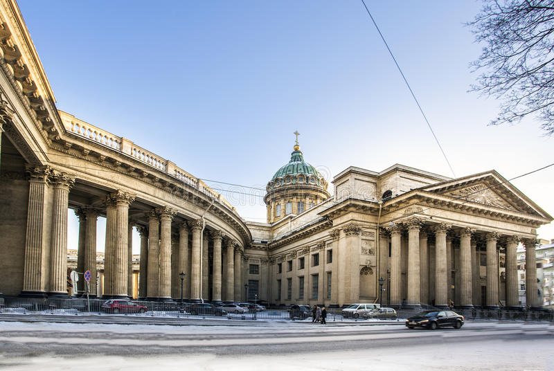 Kazan Cathedral Cathedral in Saint-Petersburg stock photo