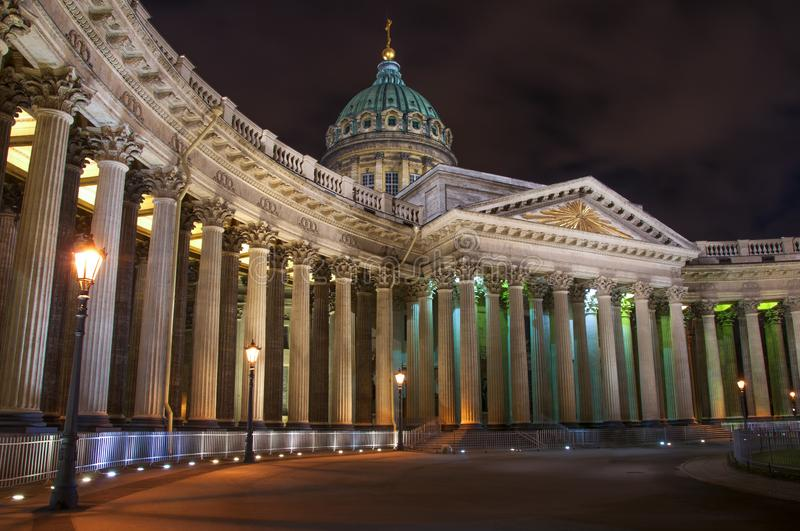 Kazan Cathedral in St. Petersburg. stock photo