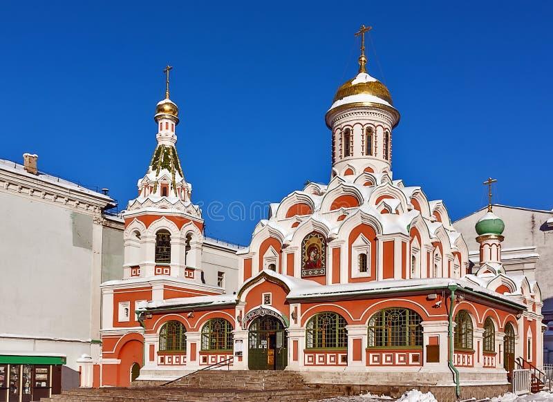 Kazan domkyrka, Moscow, Ryssland fotografering för bildbyråer