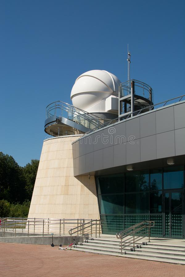 """Kazan, federacja rosyjska - SierpieÅ"""", 2017: planetarium Kazan Federacyjny uniwersytet wymieniajÄ…cy po A A Leonov zdjęcia stock"""