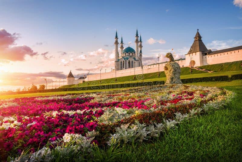 Kazan flower peacock stock images