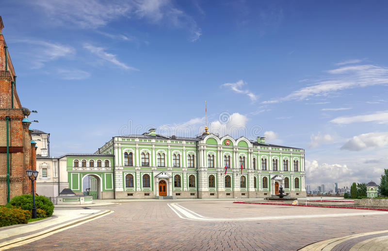 Kazan gubernatora ` s pałac lub Prezydencki pałac Kazan, Tat zdjęcie royalty free