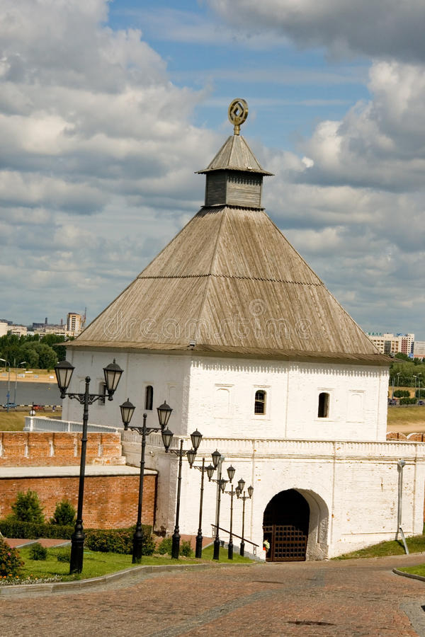 Kazan. Het Kremlin stock foto