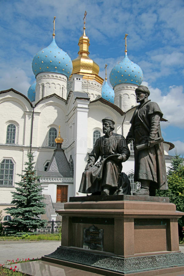 Kazan. Het Kremlin royalty-vrije stock afbeelding