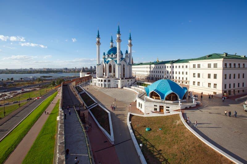 Kazan het Kremlin Kazan, Tatarstan, Rusland royalty-vrije stock afbeelding