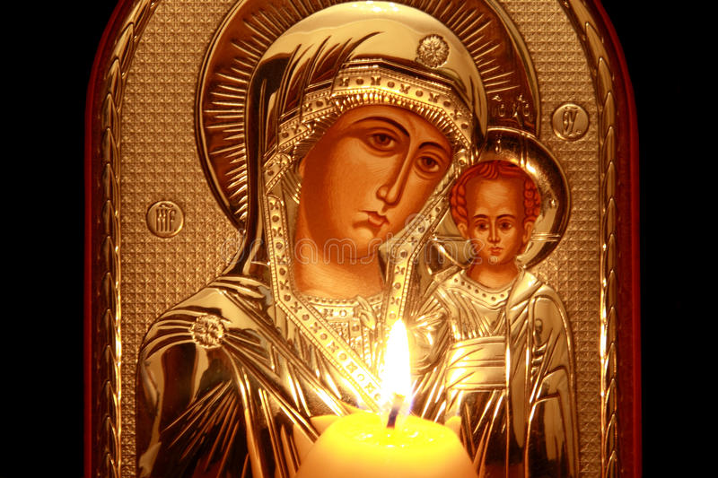 Kazan Icon Of The Mother Of God Stock Images