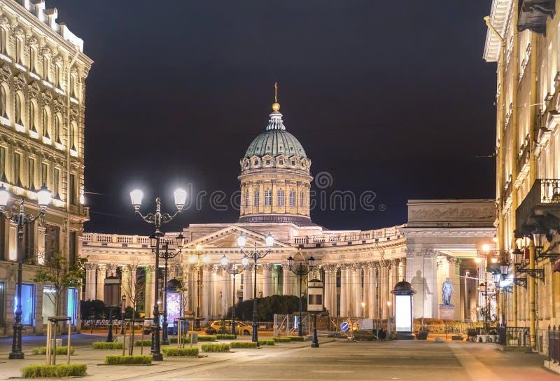 Kazan katedra na Nevsky perspektywie w świętym Petersburg, Rosja - zdjęcia stock