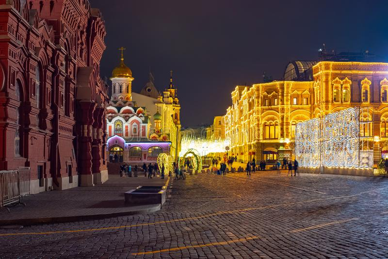 Kazan katedra na tle dziąsło Rosja obraz stock