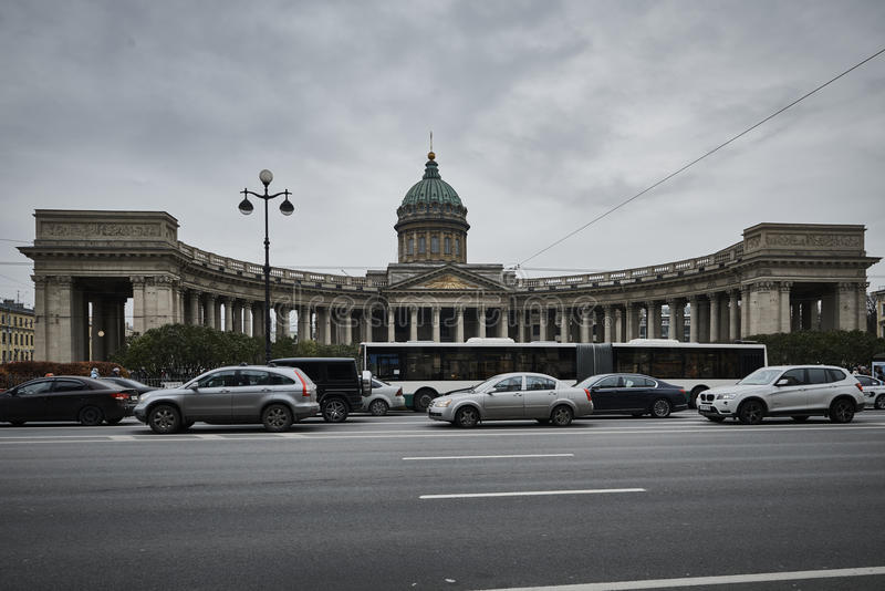 Kazan katedra przy Petersburg fotografia royalty free