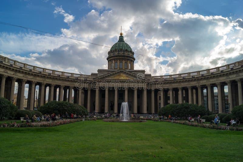 Kazan katedra w świętym Petersburg fotografia royalty free