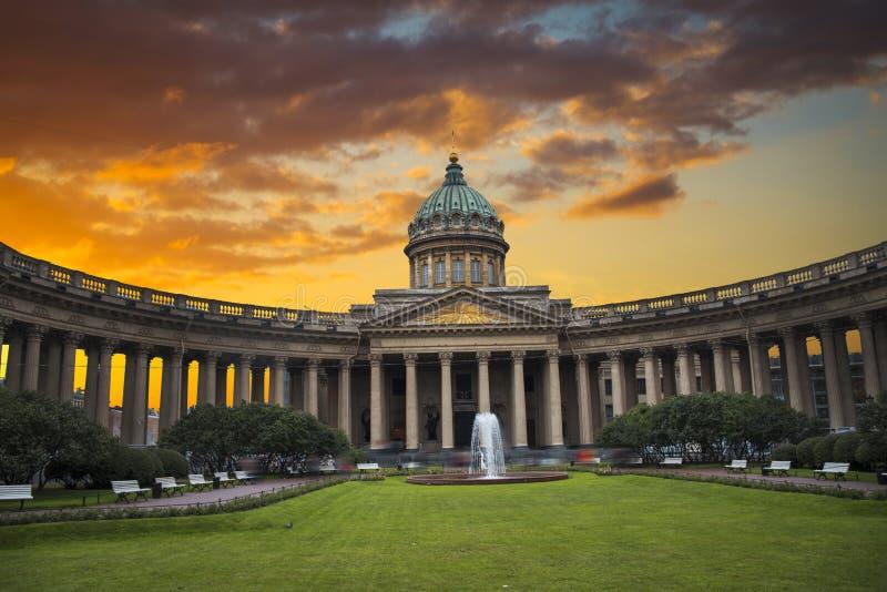 Kazan katedra w mieście St Petersburg zdjęcia royalty free