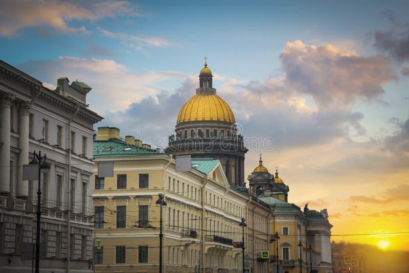 Kazan katedra w mieście St Petersburg zdjęcie royalty free