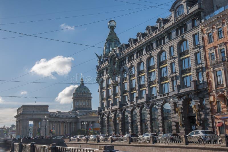 Kazan katedra w mieście St Petersburg obrazy stock