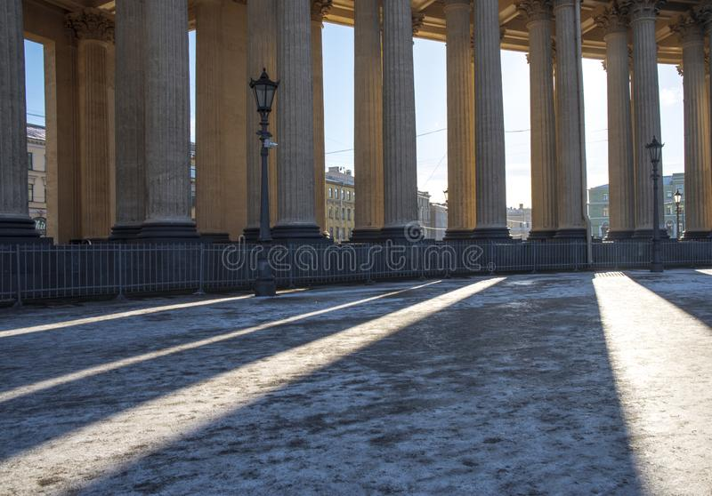 Kazan katedra w mieście St Petersburg obrazy royalty free