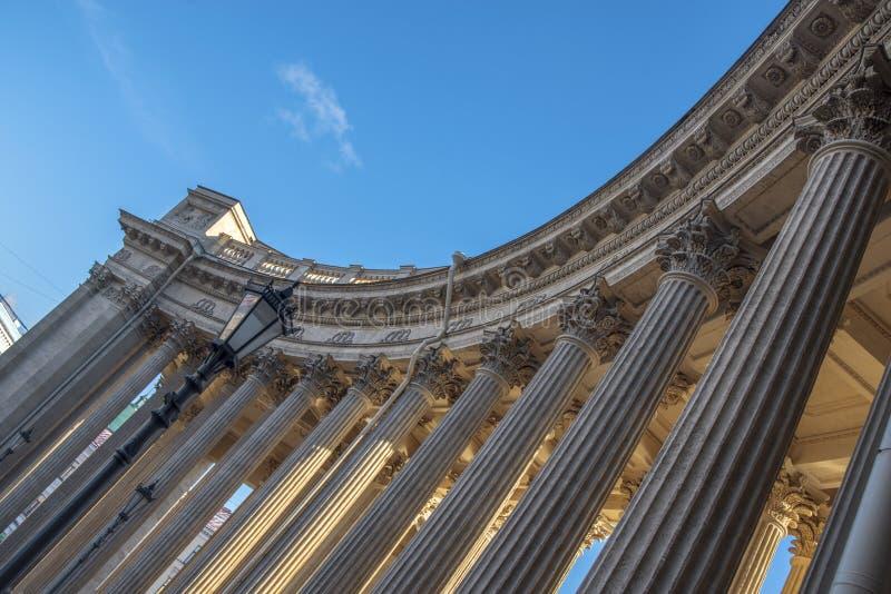 Kazan katedra w mieście St Petersburg fotografia royalty free