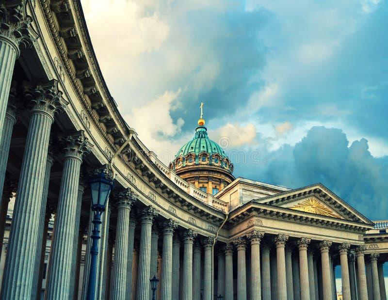 kazan katedralny st Petersburg Russia Kopuła i kolumnada Kazan katedra w St Petersburg, Rosja zdjęcie royalty free
