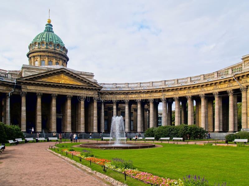 Kazan Kathedraal in Heilige Petersburg royalty-vrije stock foto's