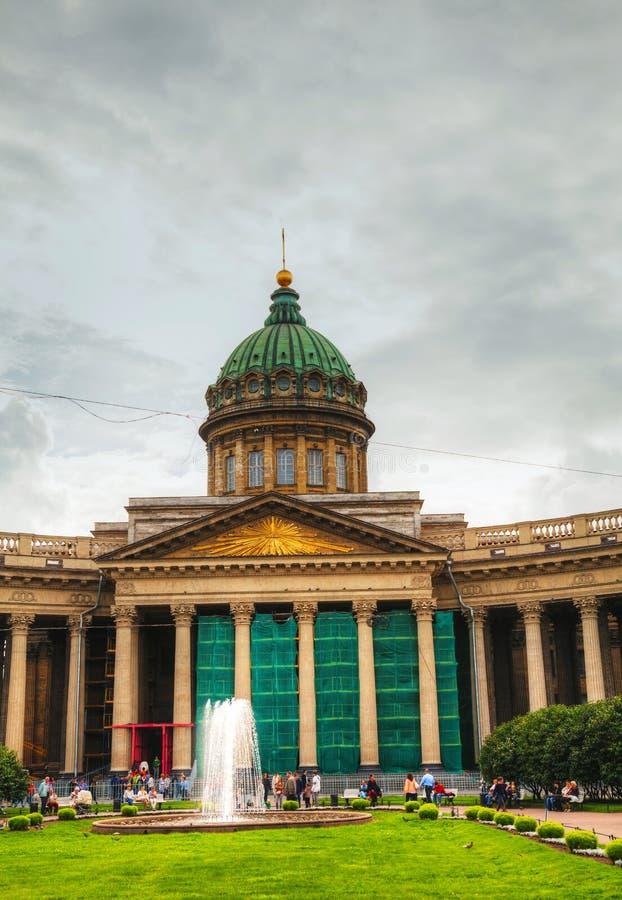 Kazan Kathedraal (Kazanskiy Sobor) in Heilige Petersburg, Rusland royalty-vrije stock foto