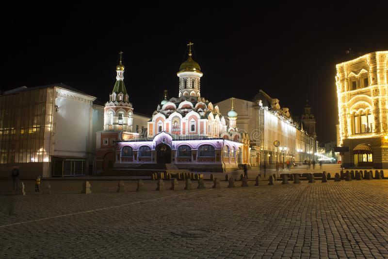 Kazan Kathedraal moskou Rusland stock foto's