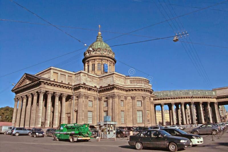 Kazan Kathedraal op Nevsky Prospekt in St. Petersburg, Rusland stock afbeeldingen