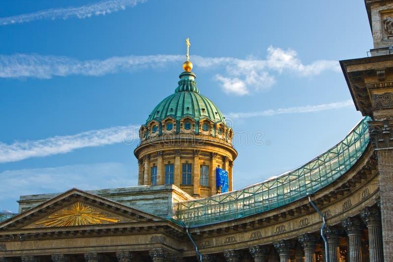 Kazan Kathedraal, St. Petersburg stock foto