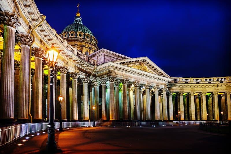 Kazan Kathedraal in St Petersburg stock afbeelding