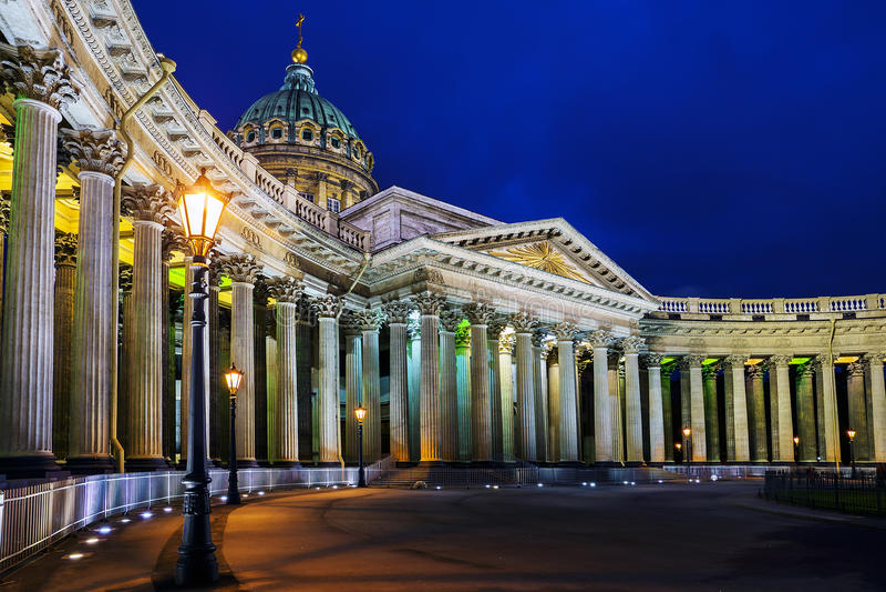 Kazan Kathedraal in St Petersburg royalty-vrije stock foto's
