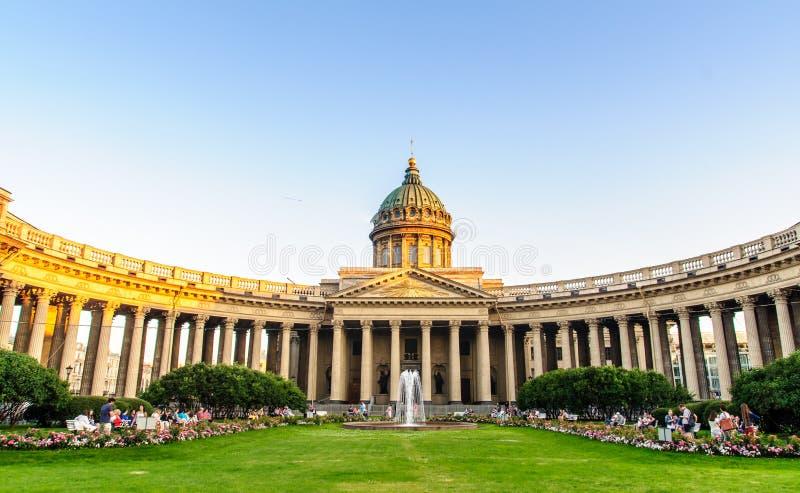 Kazan-Kathedrale in St Petersburg lizenzfreies stockbild