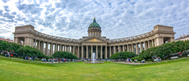 Kazan Kazansky καθεδρικός ναός στην προοπτική Nevsky, Αγία Πετρούπολη, Ρωσία στοκ φωτογραφία