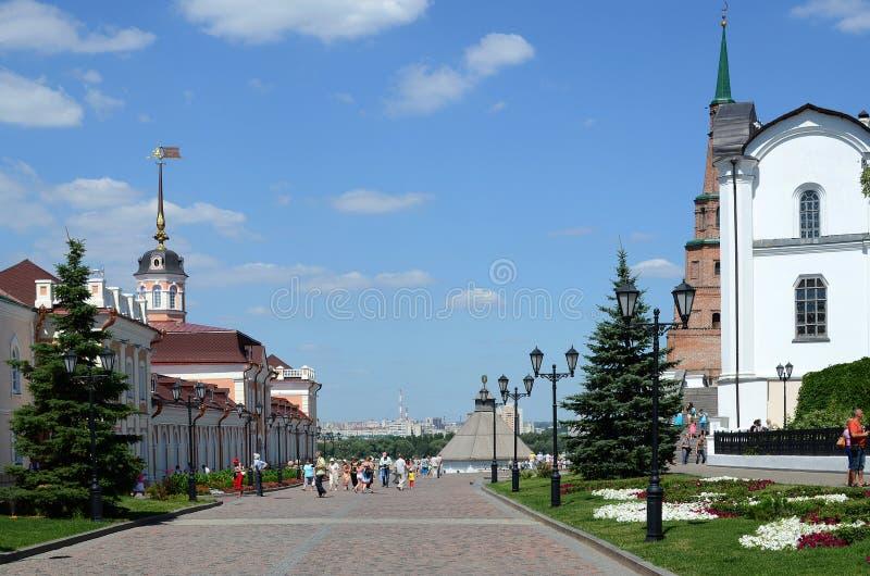 kazan Kreml środkowa street zdjęcia royalty free