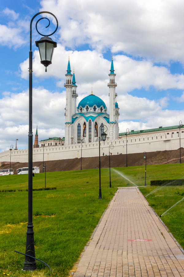 Kazan kremlin e Kul Sharif foto de stock royalty free