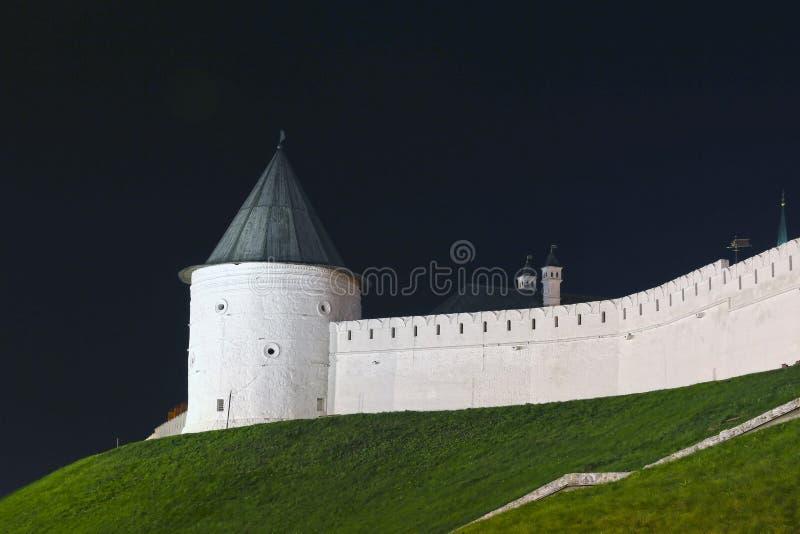 Kazan Kremlin la nuit photos stock
