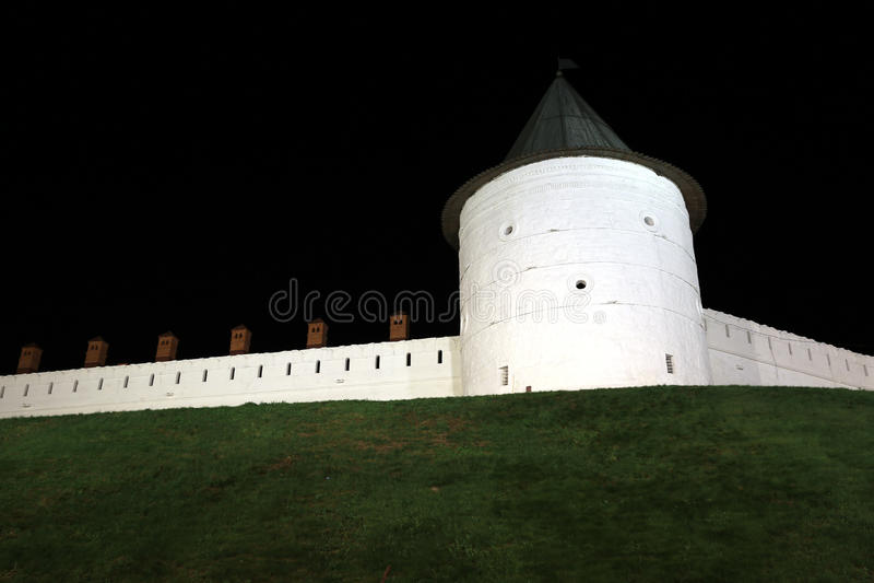 Kazan Kremlin la nuit images stock