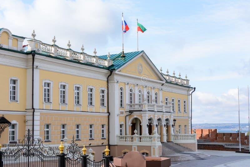 Kazan Kremlin. Representative building of the Presidential Administration of the Republic of Tatarstan. Kazan. Russia. North stock photos