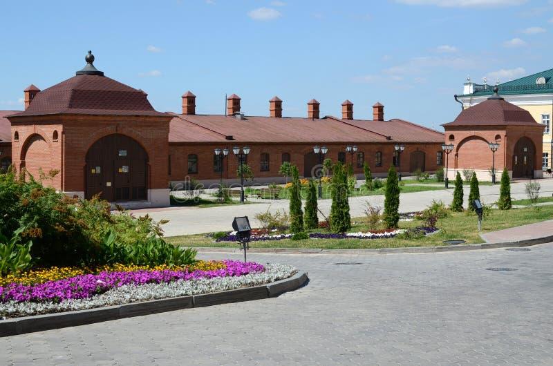 Kazan Kremlin. Zachodni budynek Artyleryjski sąd obrazy royalty free
