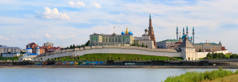 Kazan Kremlowska panorama, Tatarstan fotografia royalty free