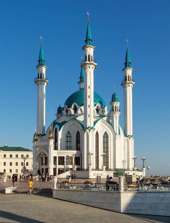 kazan Kula Sharif meczet w terytorium Kazan Kremlin obraz stock