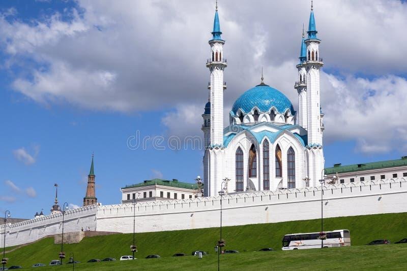 Kazan meczet Kul-Sharif Jeden wielcy meczety w kraju fotografia stock
