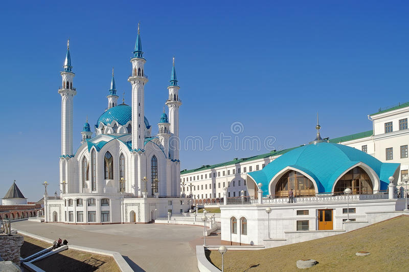 Kazan, mesquita Qolsharif foto de stock royalty free