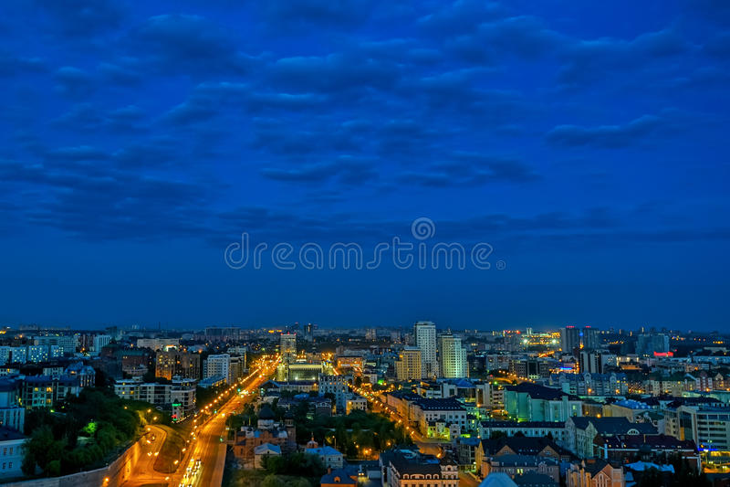 Kazan nocą obrazy stock