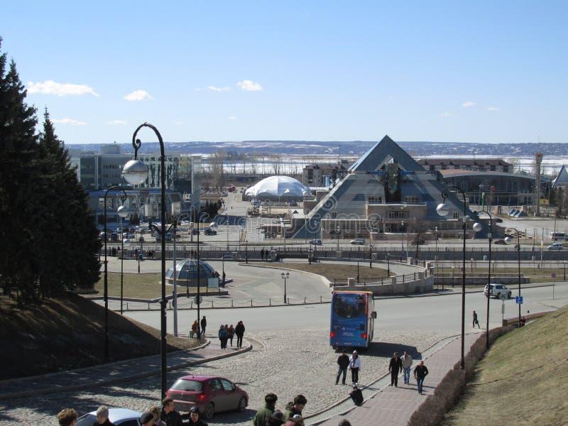 Kazan, ostrosłup, widok od kwadrata dalej może 1 zdjęcia royalty free